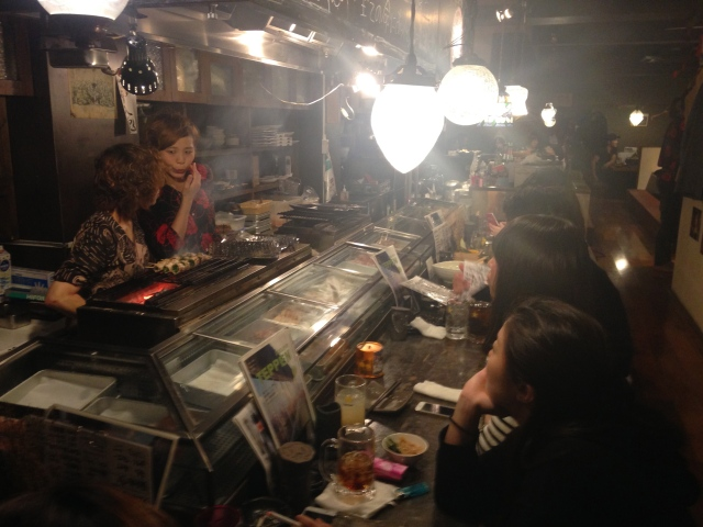 7pm sit down to eat in shibuya
