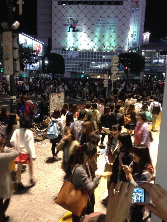 9pm Shibuya Crossing
