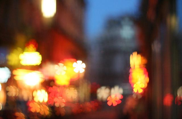 blurred stars in paris