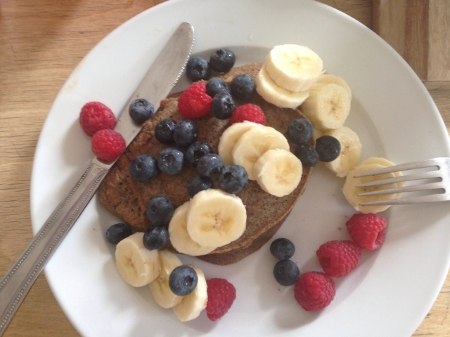 berry buckwheat pancakes