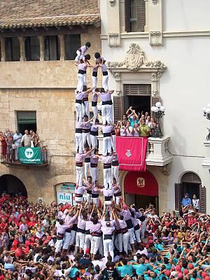 human towers in Spain