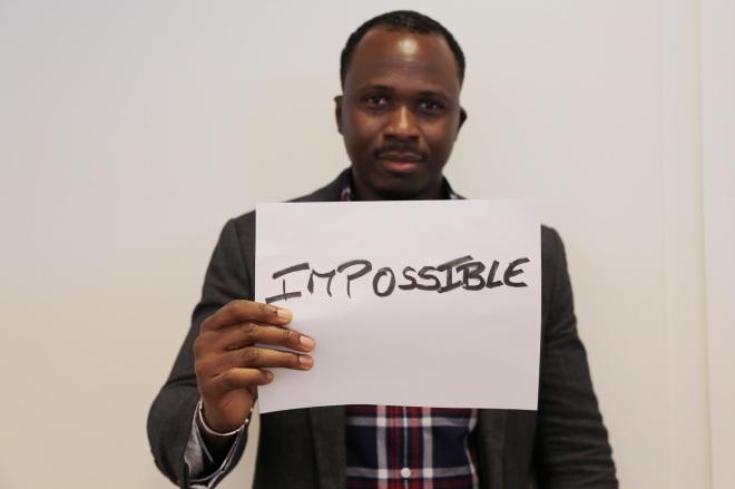 Serge's least favorite word: impossible
