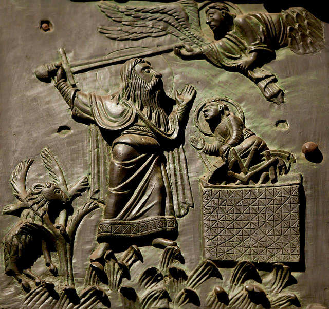 Bronze Door: Abraham and Isaac