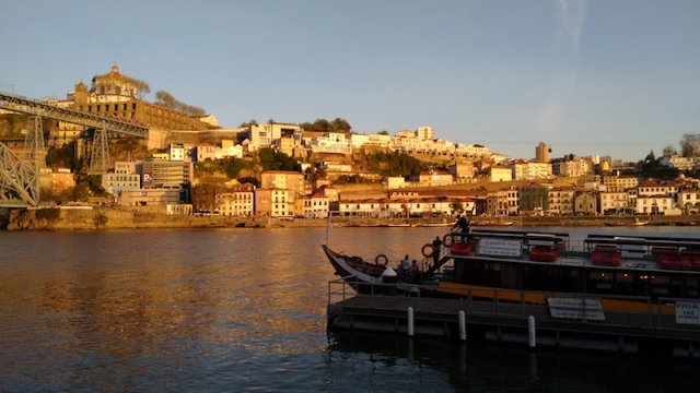 sunsetonthewaterinporto